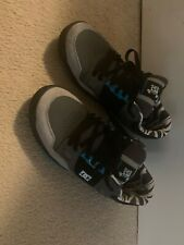 Used Worn Size 10 DC Shoes Stag 2 KB Ken Block Skateboard Shoes Black Blue Gray