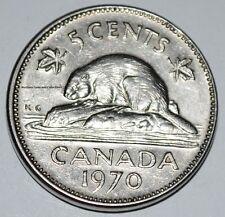 Canada 1970 5 Cents Elizabeth II Canadian Nickel Five Cent
