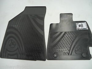 TOYOTA KLUGER FLOOR MATS FRONT RUBBER PAIR GSU4# MAY 07 - DEC 13 NEW GENUINE
