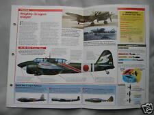 Aircraft of the World Card 3 , Group 13 - Kawasaki Ki-45 Toryu 'Nick'