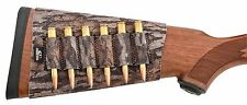 Mossy Oak Bottomland Camo Rifle Cartridge Buttstock Holder - 6 Round Neoprene