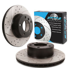 FRONT DRILLED GROOVED 296mm BRAKE DISCS FOR BMW 5 SERIES E39 528 525tds 520d 535
