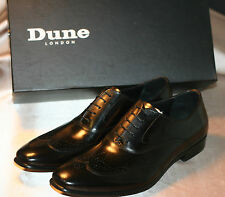 New Men's Dune London Admire Oxford Blk Leather Wing Tip US 7 M Eur 40 MSRP $145