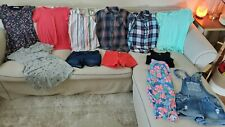 Lot of 12 Girls clothes size 10-12 Spring Summer shorts dresses