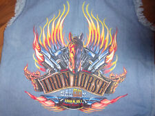 V TWIN MOTORCLCLE APPAREL MENS JEAN VEST SIZE MEDIUM IRON HORSE SALOON