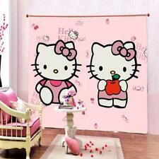 Hello kitty Polyester Digital Printed Eyelet Curtain Window - 4 feet X 5
