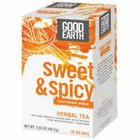 Sweet and Spicy Caffeine Free Herbal Tea 18 Tea Bags