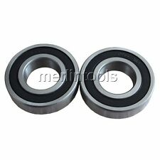 2Pcs 6203A/42-2RS Rubber Sealed Motorcycle Ball Bearing 17 x 42 x 12 mm