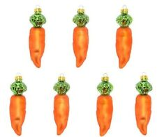 """7 PC. EASTER CARROT ORNAMENTS unbreakable plastic 4.15"""""""