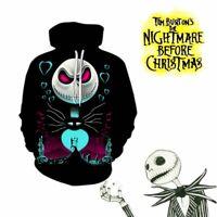 The Nightmare Before Christmas Hoodie Sally Jack Skellington Sweatshirt Jacket