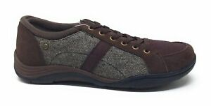 Grasshoppers Womens Flourish Lace Up Flat Shoes Brown Leather Size 5.5 M