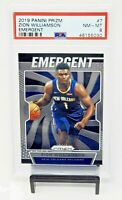 2019 Prizm New Orleans Pelicans ZION WILLIAMSON Rookie Basketball Card PSA 8