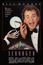 Scrooged movie poster  : 11 x 17 inches : Bill Murray poster, Scrooge poster