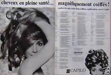 PUBLICITÉ 1968 CAPILO TRAITEMENT SPÉCIFIQUE DU CHEVEU - ADVERTISING