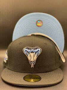 """Arizona Diamondbacks Custom New Era 2001 WS Side Patch 59Fifty """"ICY Blue"""" UV"""