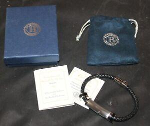 Bradford Exchange Protection & Strength For My Son Bracelet Black Sapphire w/Box