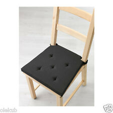 Ikea Justina Chair Pad Black Indoor Outdoor Patio Office Seat Cushion 203.044.25