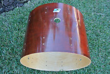 """70s/80s Ludwig USA 22"""" BASS DRUM SHELL in RED MAHOGANY for YOUR DRUM SET! #E695"""
