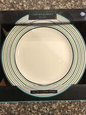 "Cynthia Rowley New York Fine China Dinner Plates Set Of 4, 10 .5"" Diameter"
