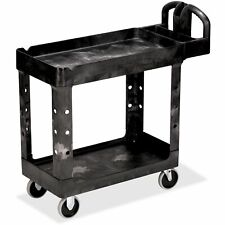 Rubbermaid Commercial Hd 2 Shelf Utility Cart With Lipped Shelf