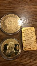 More details for car boot buy 3 bullion bars coins untested