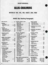 Allis Chalmers tractor 180 185 190 & XT 200 7000 Shop Manual PDF CD 83 pages