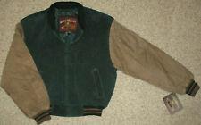G-III Leather Jacket Vintage Bomber Men M Varsity Letterman Coat Insulated Suede