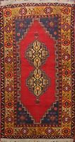 Antique Geometric Anatolian Turkish Tribal Area Rug Wool Hand-knotted 4x6 Carpet