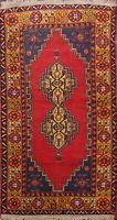Antique Geometric Anatolian Turkish Tribal Area Rug Wool Hand-knotted 4x6 Carpet