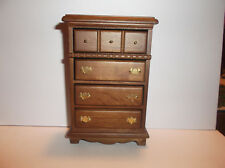 Miniature Dollhouse Wood Chest Of Drawers
