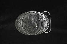 Bergamot 1993 Wolf(D-76 Hand Made In USA Pewter)Belt Bucklle..