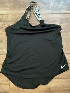 NIKE driFIT Black Lightweight Gym Yoga Athletic Exercise Tank Top womens Small