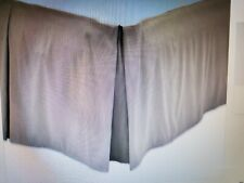 Pleated Bed Skirt Dust Ruffle Brown King Size New