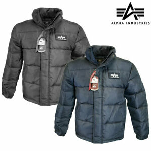 Puffer Jacket Alpha Industries US Flight Down Insulated Parka Padded Winter Coat