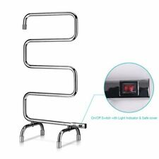 HomeLeader Towel Warmer Rack L34-001 w/ Stand bathroom S shaped heated electric