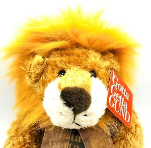 "Vintage Gund Pounce Delion Lion Plush 12"" Toy King Of The Jungle Gotta Get Gund"