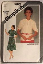 Simplicity  9872 sewing  pattern  Ladies  tunic dress Size 10