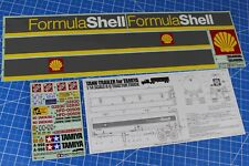 "Rare Vintage Tamiya 1/14 R/C Semi ""Shell Oil"" Tanker Tank Trailer Decal Sticker"
