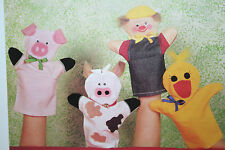 Animal Glove Puppets, Old MacDonald Toy Puppet Sewing Pattern