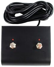 Two 2 Button Replacement Footswitch with LED for Marshall and Fender Amps