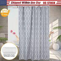"70x70"" Waterproof Shower Curtain Bathroom Shower Drape Liner Print w/ 12 Hooks"
