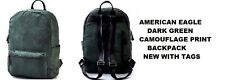 AMERICAN EAGLE OUTFITTERS GREEN CAMOUFLAGE PRINT BACKPACK-BOOK BAG NEW WITH TAGS