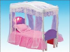 US - Mini DollHouse Bedroom Furniture Princess Girls Bed Set Toy For Barbie Doll