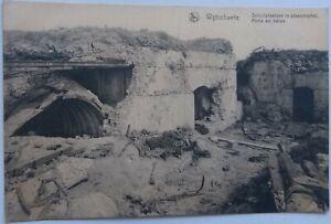 WW1 WYTSCHAETE Belgium Wijtschate Destroyed Defences Fortress Messines PC c1918