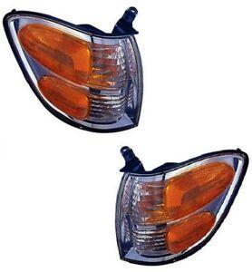 01 02 03 04 Sequoia Tundra Left & Right Park/Signal Lamp Light Pair L+R