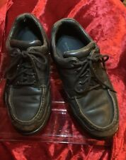 AUTHENTIC ROCKPORT DESIGNER MENS DRESSY CASUAL LEATHER SHOES BROWN WATERPROOF