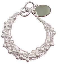 Silver Plated Beaded Costume Bracelets without Stone