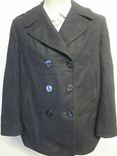 Vintage Señoras 1998 US NAVY PEA COAT Lana de melton ropa naval UK 16 euro 44