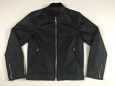 Dr Martens Millerain Co Wax Cotton Black Cafe Racer Jacket Size XS Made In UK