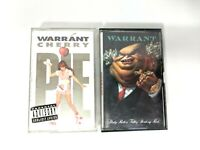 Lot of 2 Warrant Cassette Tapes Cherry Pie Dirty Rotten Filthy Stinking Rich
